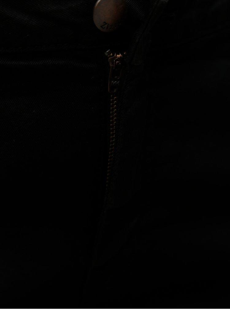 Čierne rifľové slim kraťasy Zizzi