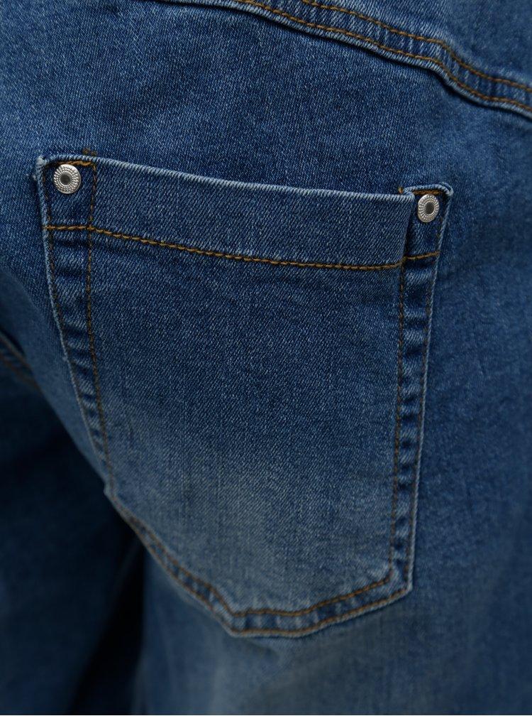 Pantaloni scurti albastri regular fit din denim Zizzi