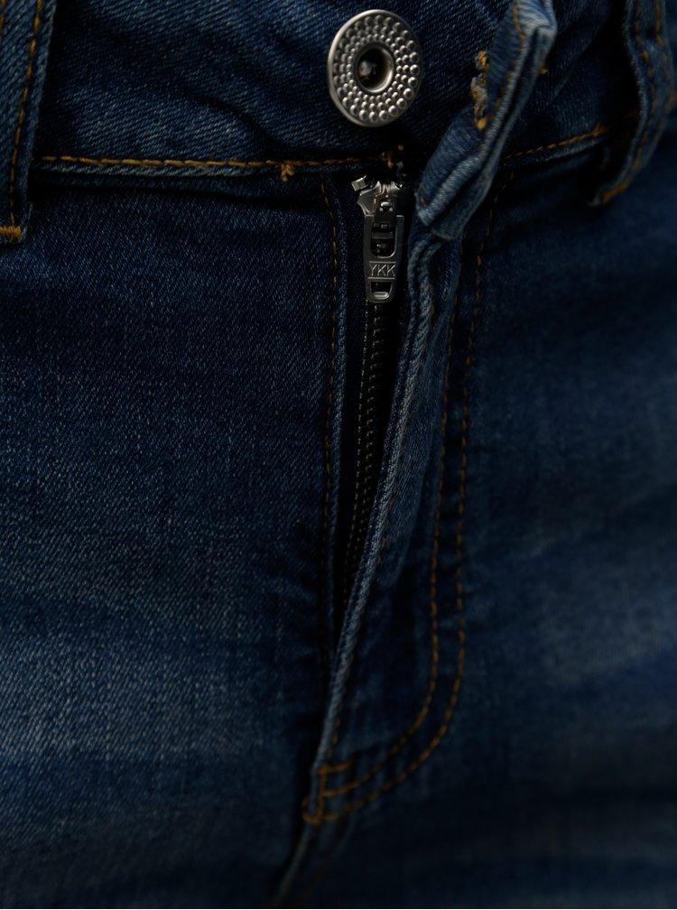 Tmavě modré džínové regular fit kraťasy Zizzi