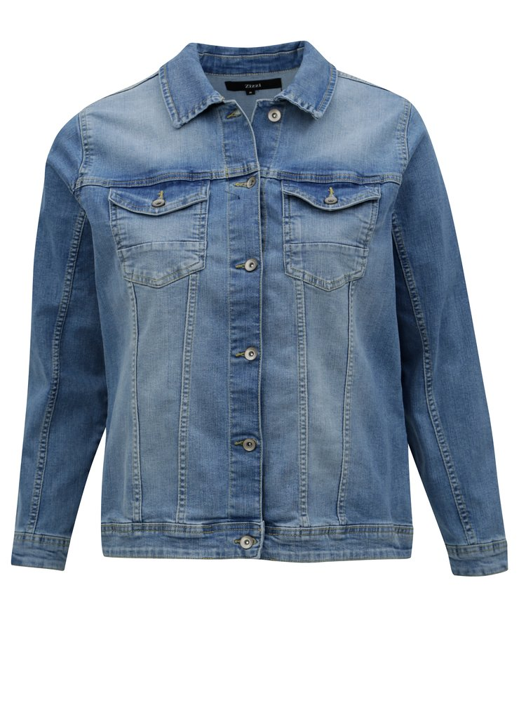 Modrá džínová bunda Zizzi
