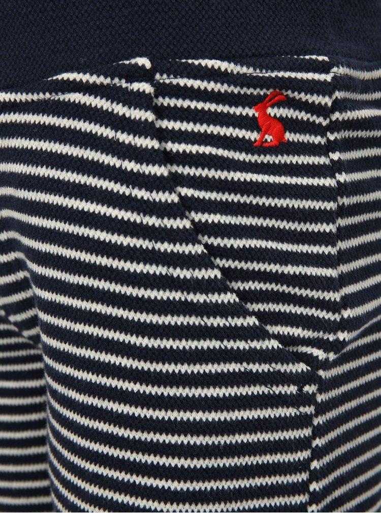Tmavě modré pruhované klučičí teplákové kraťasy Tom Joule