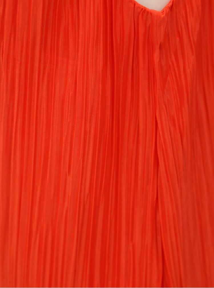 Rochie plisata rosie VILA Solana