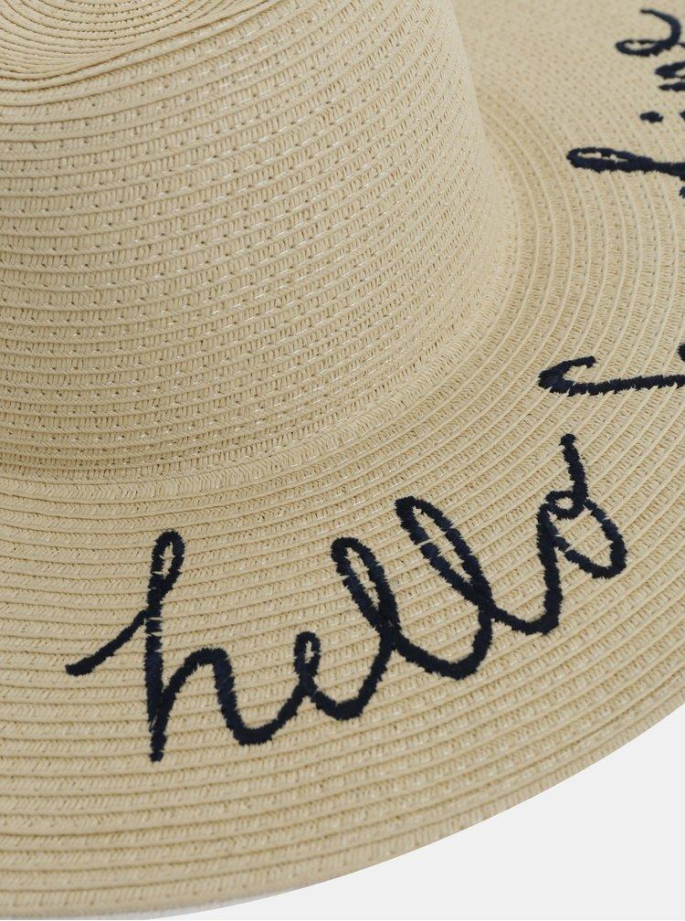Béžový dámský klobouk s výšivkou Tom Joule