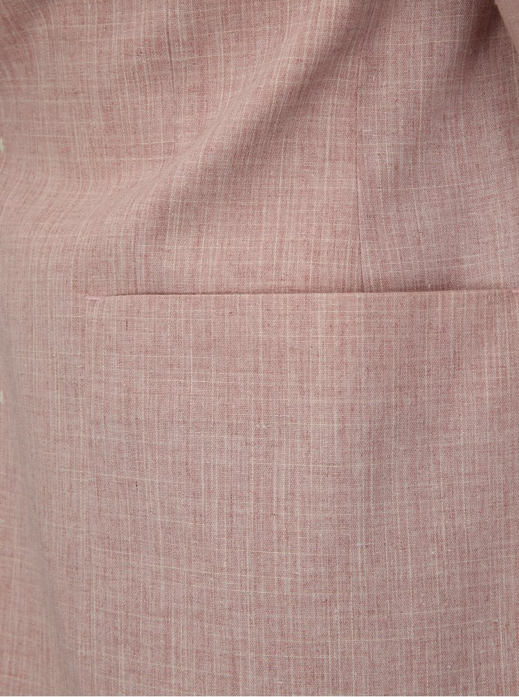 Světle růžové žíhané sako Burton Menswear London