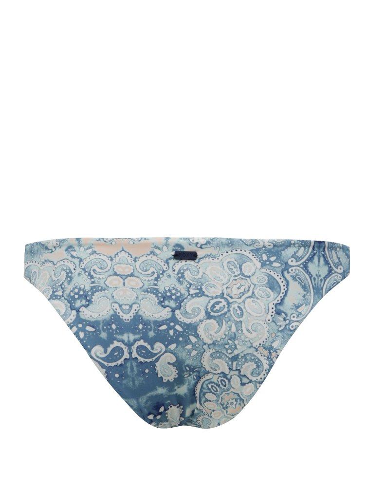 Světle modrý dámský oboustranný dolní díl plavek se vzorem Roxy Prt