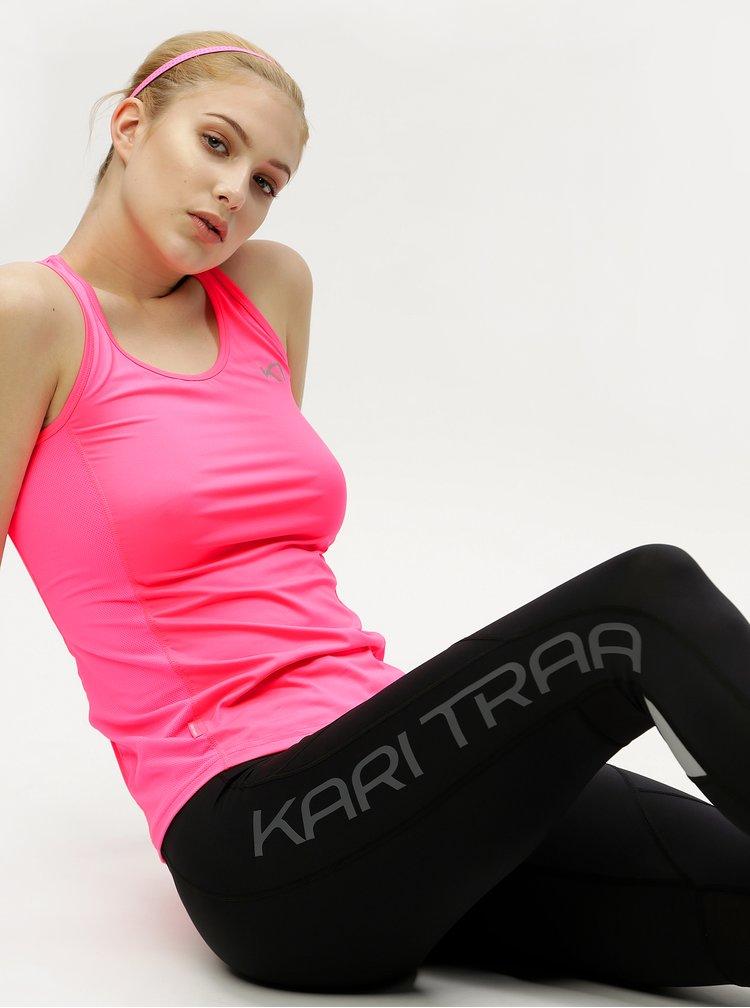 Neonově růžový sportovní top Kari Traa Nora