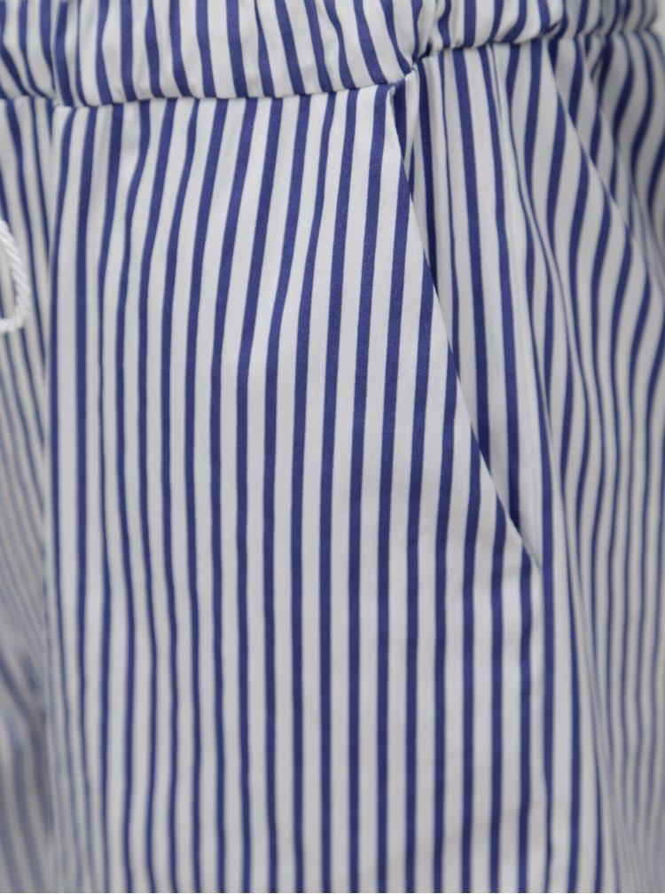 Bílo-modrý pruhovaný overal s odhalenými rameny Fornarina Melva