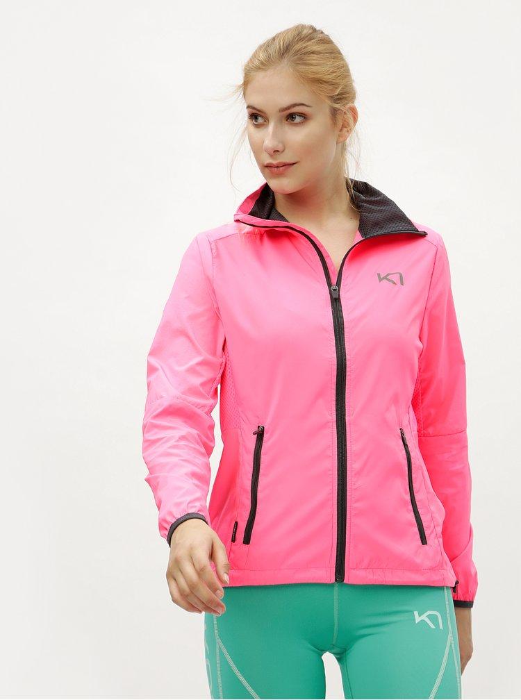 Neonově růžová lehká vodoodpudivá bunda Kari Traa Nora