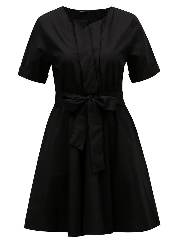 Černé šaty s páskem Fornarina Candy