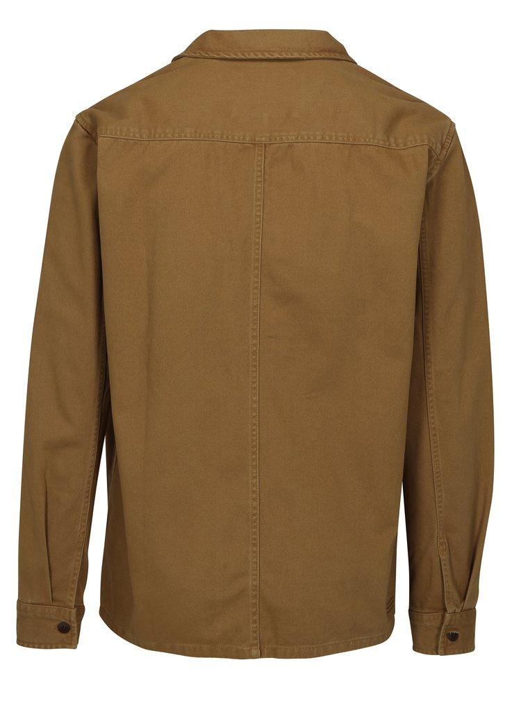 Hnědá pánská džínová bunda Quiksilver