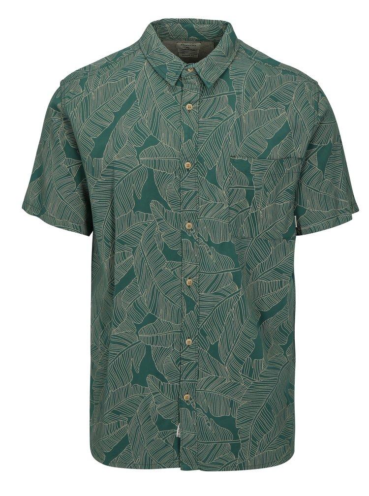Zelená pánská vzorovaná modern fit košile Quiksilver