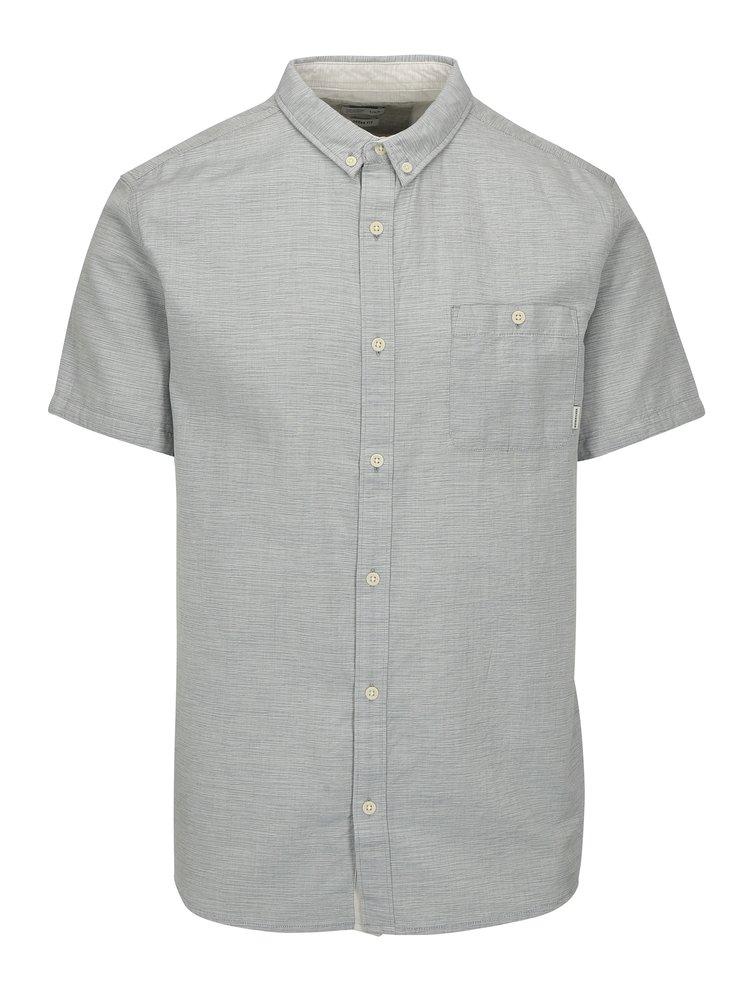 Modro-šedá pánská žíhaná košile Quiksilver