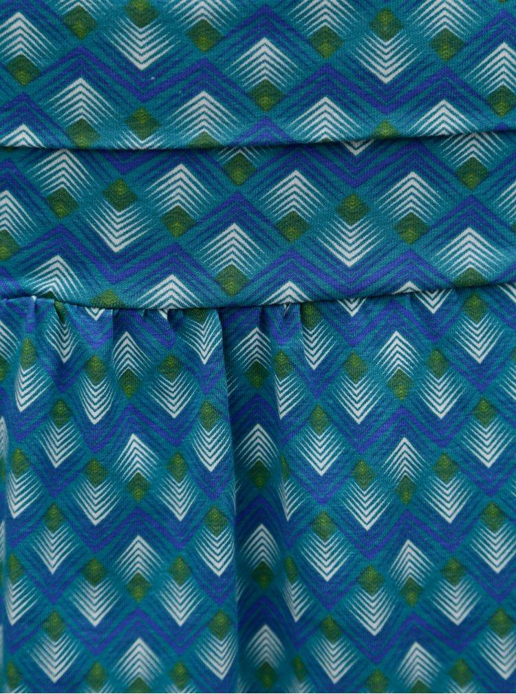 Tyrkysová vzorovaná maxi sukně / šaty Tranquillo Viola