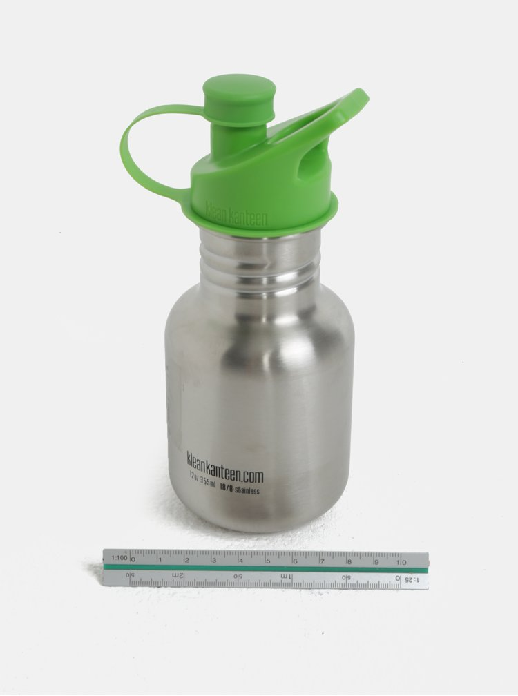 Detská antikorová fľaša v striebornej farbe Klean Kanteen 355 ml