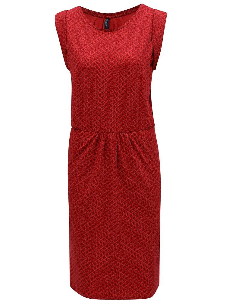 Červené vzorované šaty Tranquillo Indica