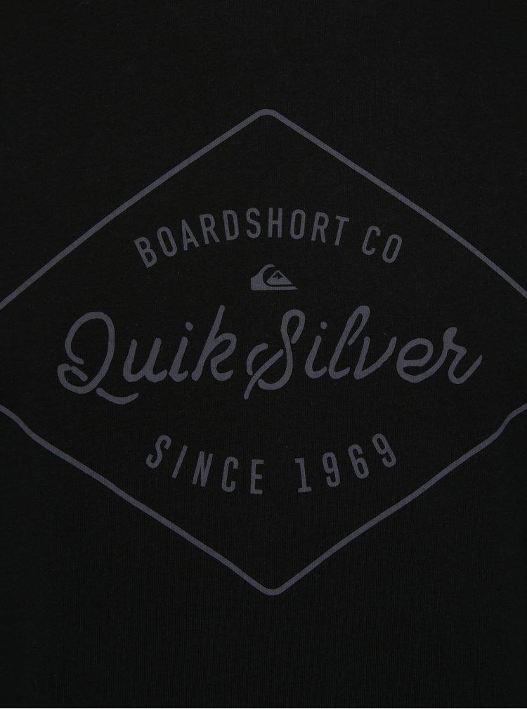 Černé pánské tričko s potiskem Quiksilver