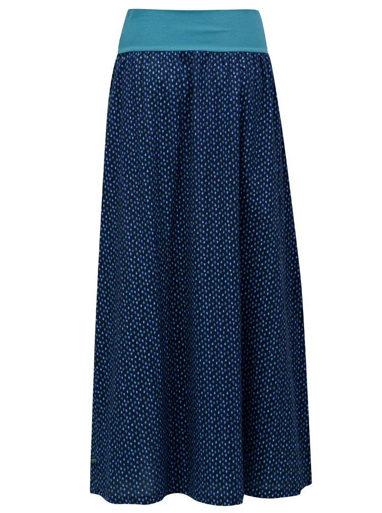 Tmavě modrá vzorovaná maxi / balónová sukně Tranquillo Chirita