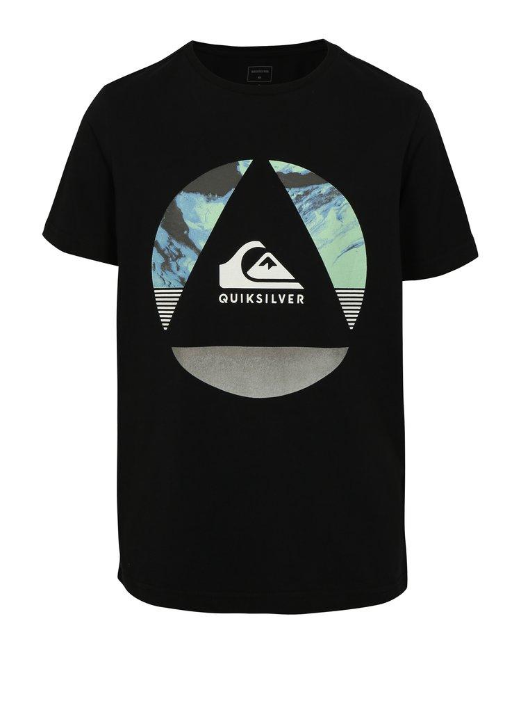Černé klučičí tričko s potiskem Quiksilver