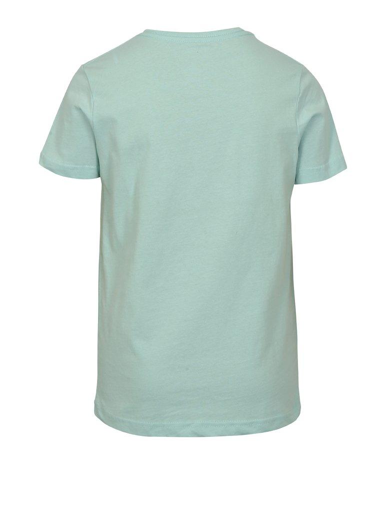 Mentolové klučičí modern fit tričko s potiskem Quiksilver
