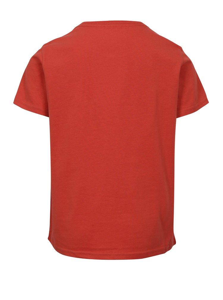 Červené klučičí regular fit tričko s potiskem Quiksilver