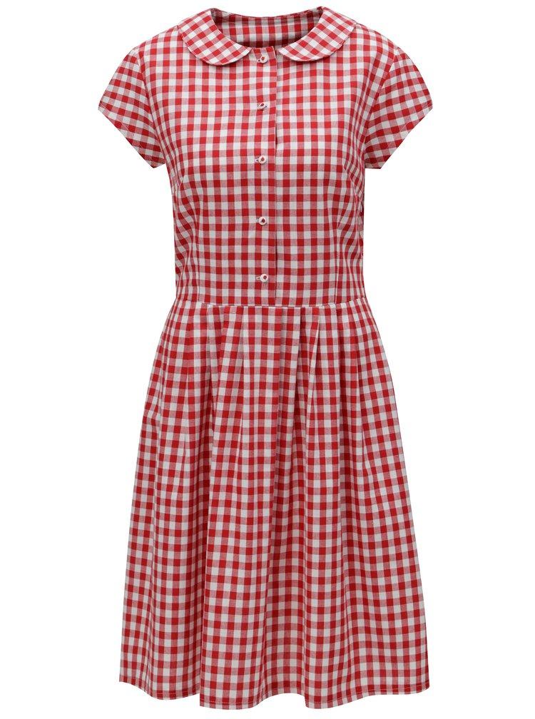 Červené kostkované košilové šaty Bohemian Tailors Eldora