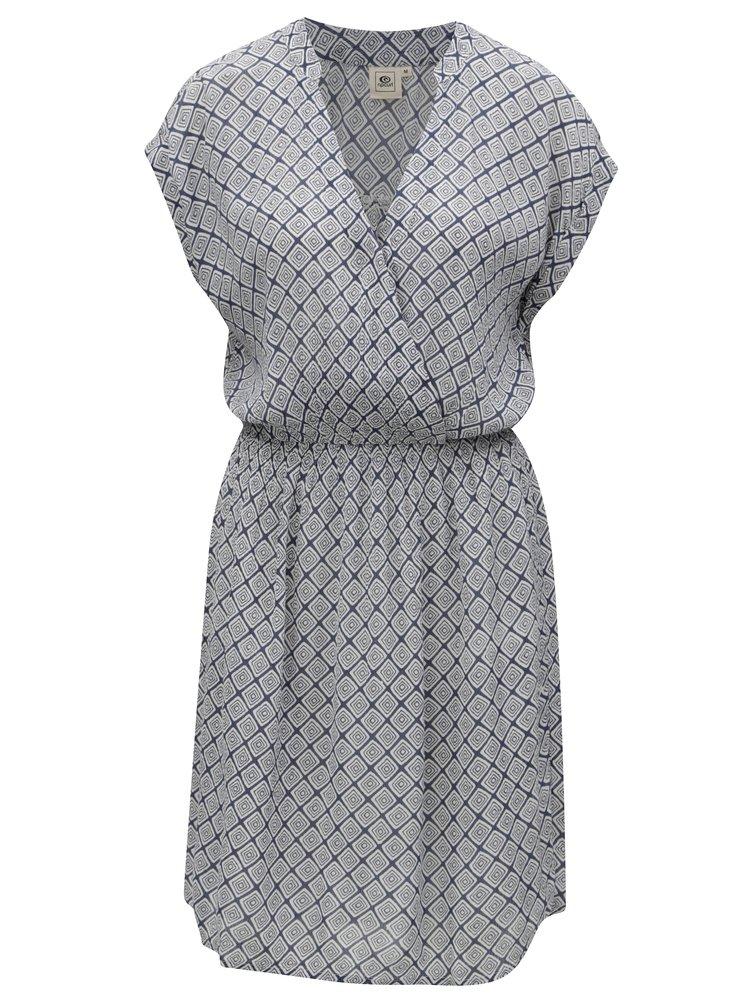 Šedo-modré vzorované šaty Rip Curl