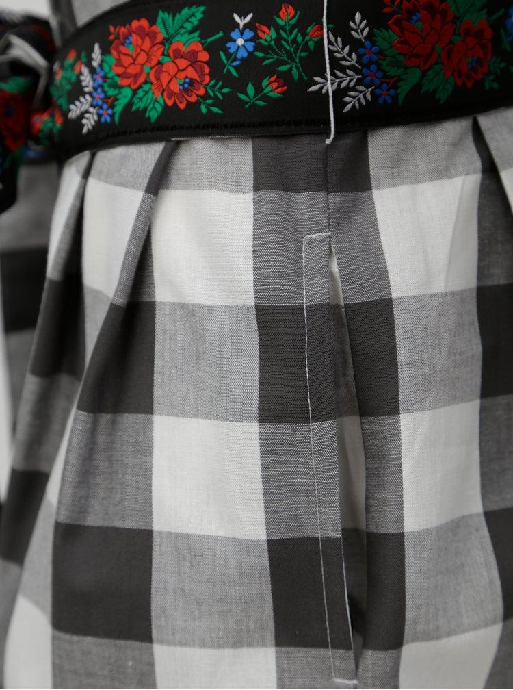 Šedé kostkované košilové šaty Bohemian Tailors Edita