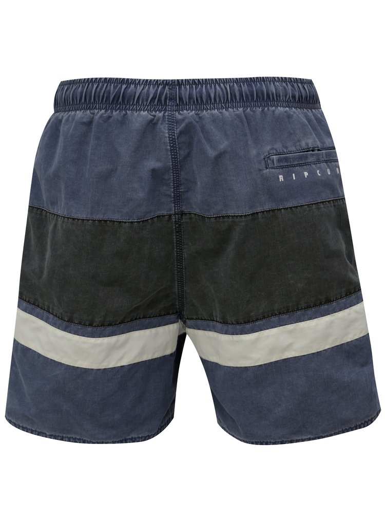 Pantaloni scurti de baie gri-albastru in dungi Rip Curl
