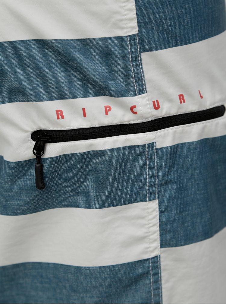 Bílo-zelené pánské pruhované plavky Rip Curl