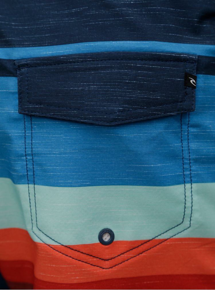 Tmavě modré pánské pruhované plavky Rip Curl