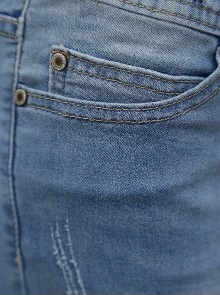 Pantaloni scurti albastru deschis din denim cu talie joasa Haily's Jenny