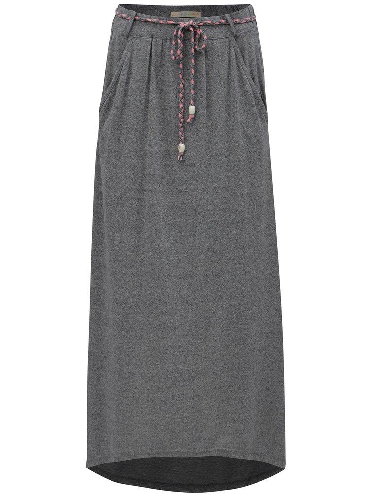 Šedá žíhaná maxi sukně Ragwear Glen