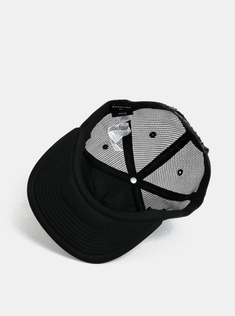Černo-šedá klučičí kšiltovka s potiskem Quiksilver