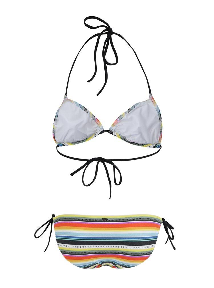 Žluto-modré dámské pruhované dvoudílné plavky Rip Curl