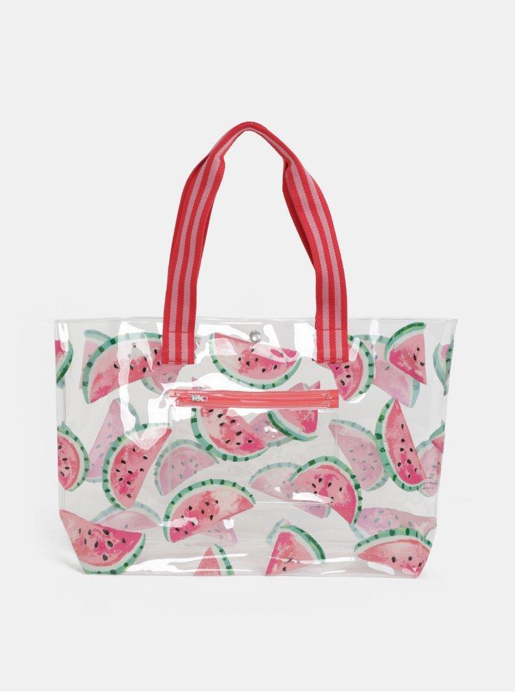 Transparentní plážová taška s motivem melounů Cath Kidston