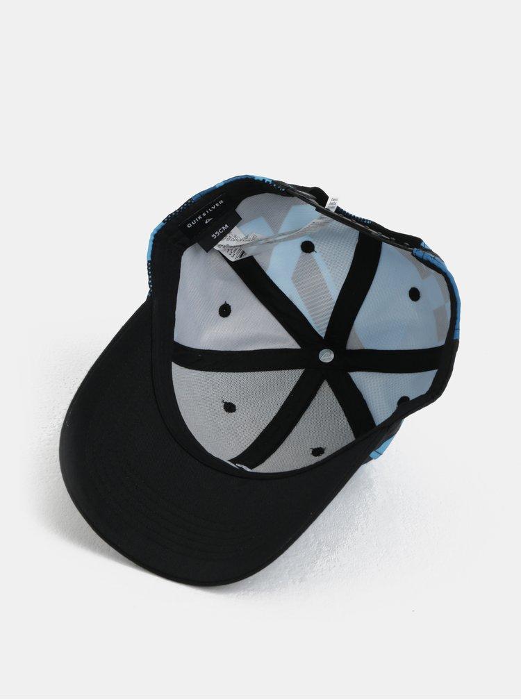 Tyrkysovo-černá klučičí vzorovaná kšiltovka Quiksilver