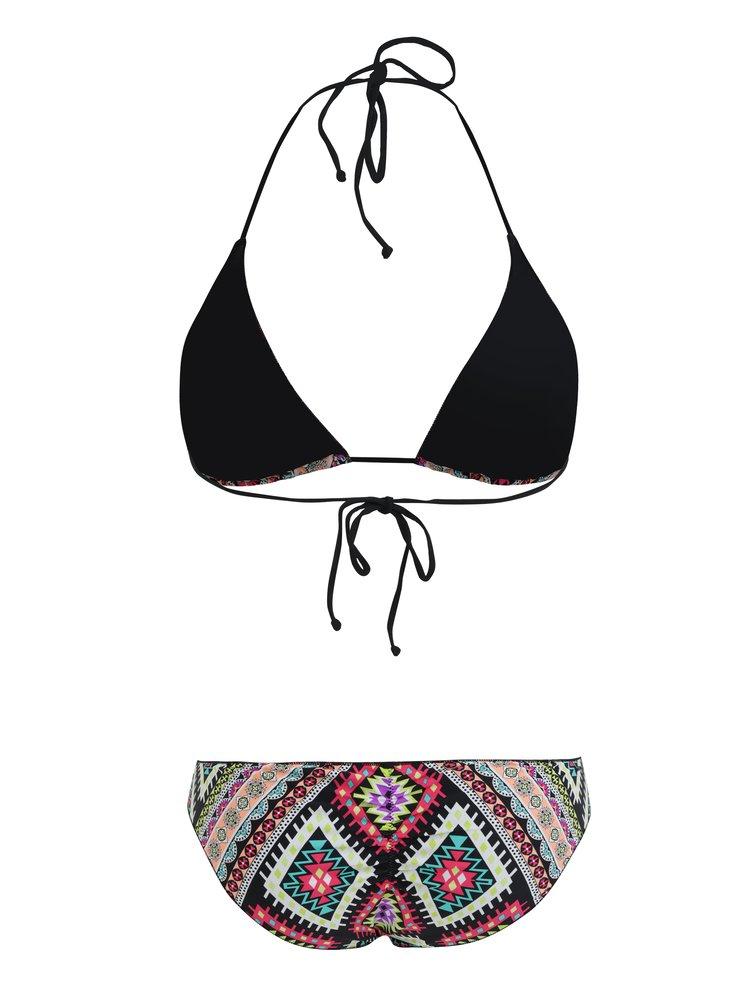 Černé dámské vzorované dvoudílné plavky Rip Curl