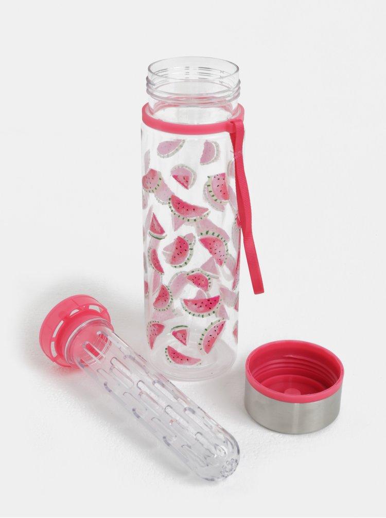 Transparentní láhev na vodu s motivem melounů Cath Kidston