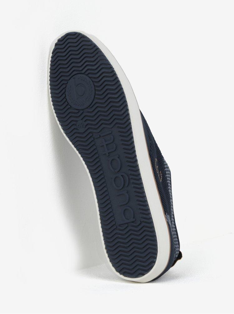 Hnědo-modré pánské tenisky bugatti Alfa