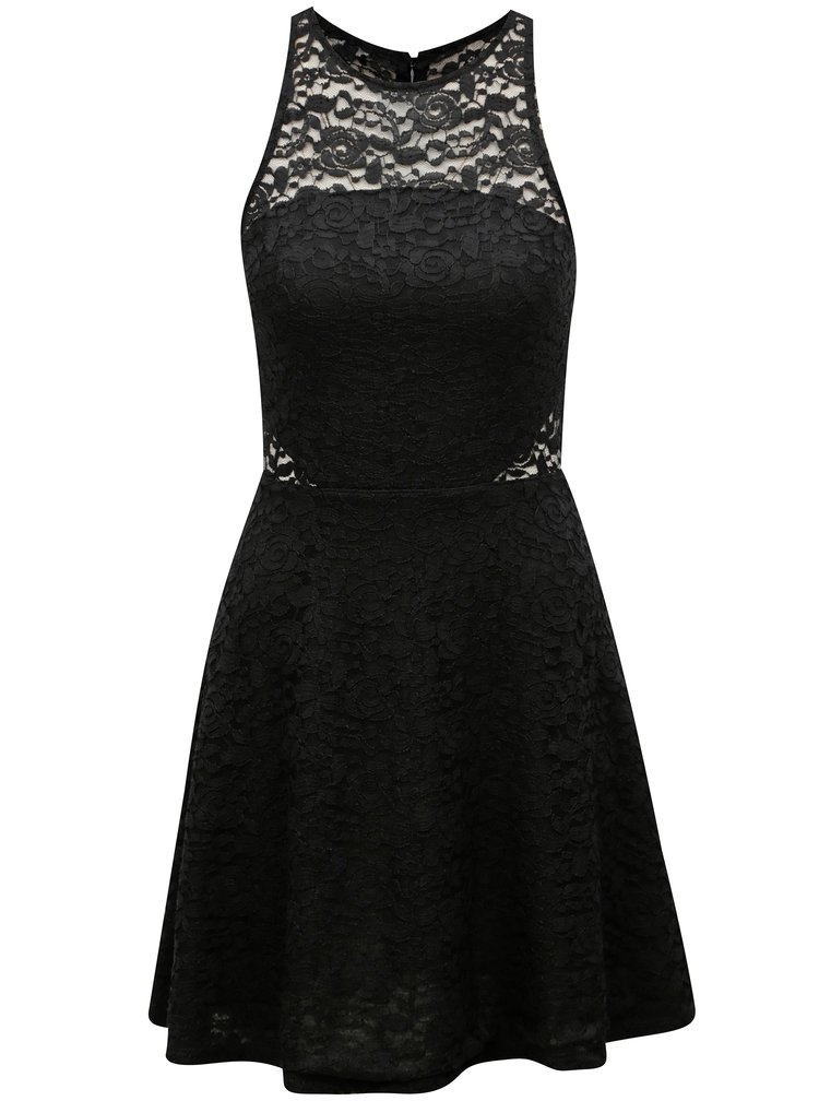 Černé krajkové šaty s průsvitným topem TALLY WEiJL