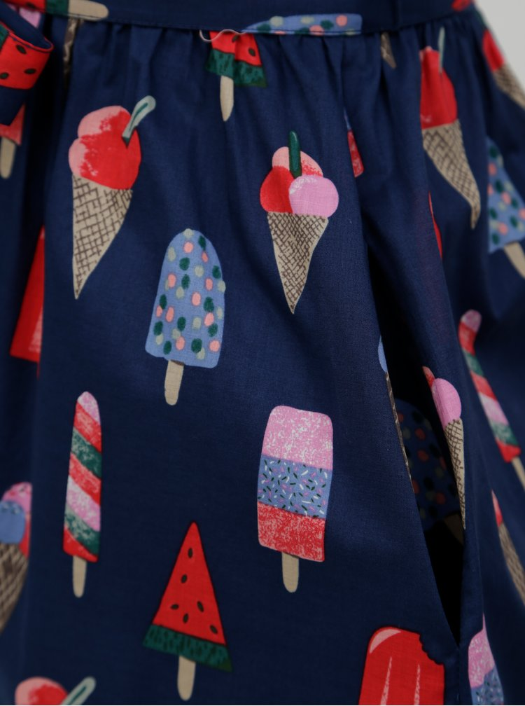 Tmavě modré košilové šaty s motivem nanuků Cath Kidston