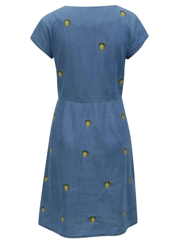 Modré džínové šaty s motivem citrónů Cath Kidston