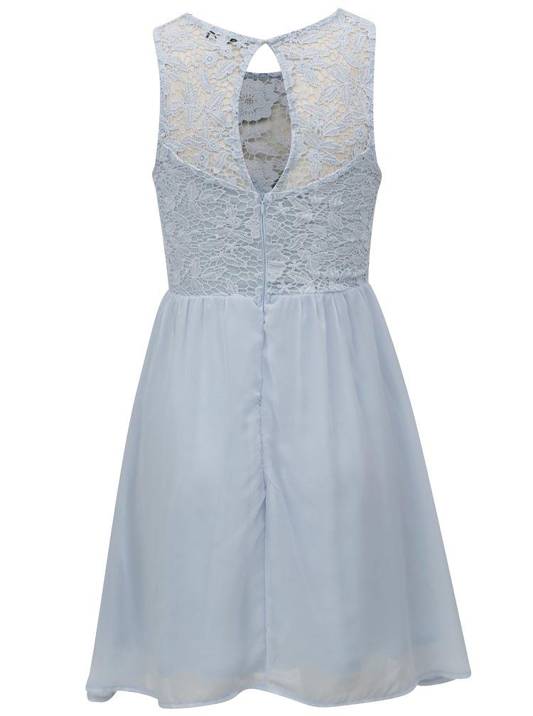 Světle modré šaty s krajkovým topem TALLY WEiJL
