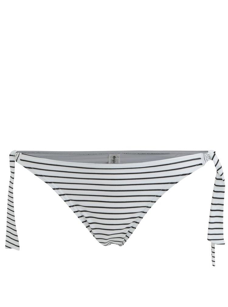 Bílý dámský pruhovaný spodní díl plavek Rip Curl
