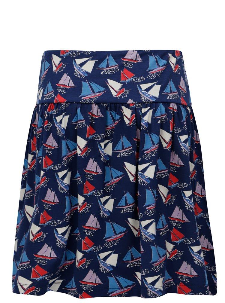 Tmavě modrá sukně s motivem plachetnic Cath Kidston