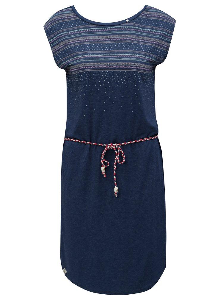 Tmavě modré šaty se vzorem Ragwear Valencia