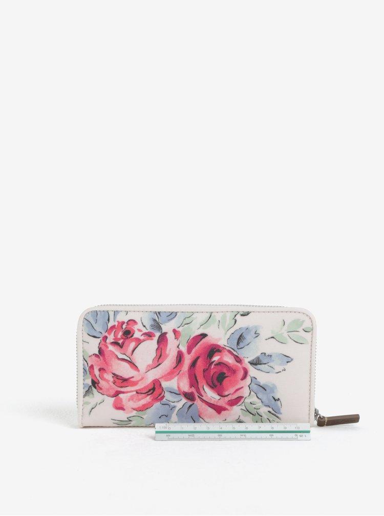 Krémová peněženka s motivem květů Cath Kidston