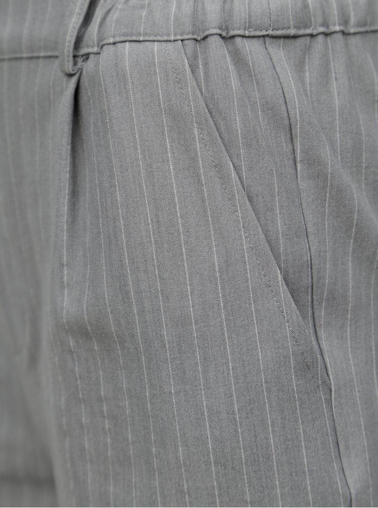 Světle šedé pruhované kraťasy TALLY WEiJL