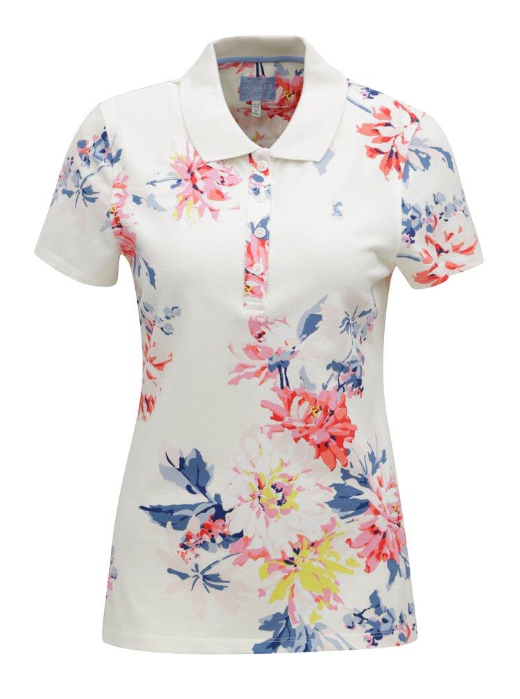 Krémové dámské květované polo tričko Tom Joule