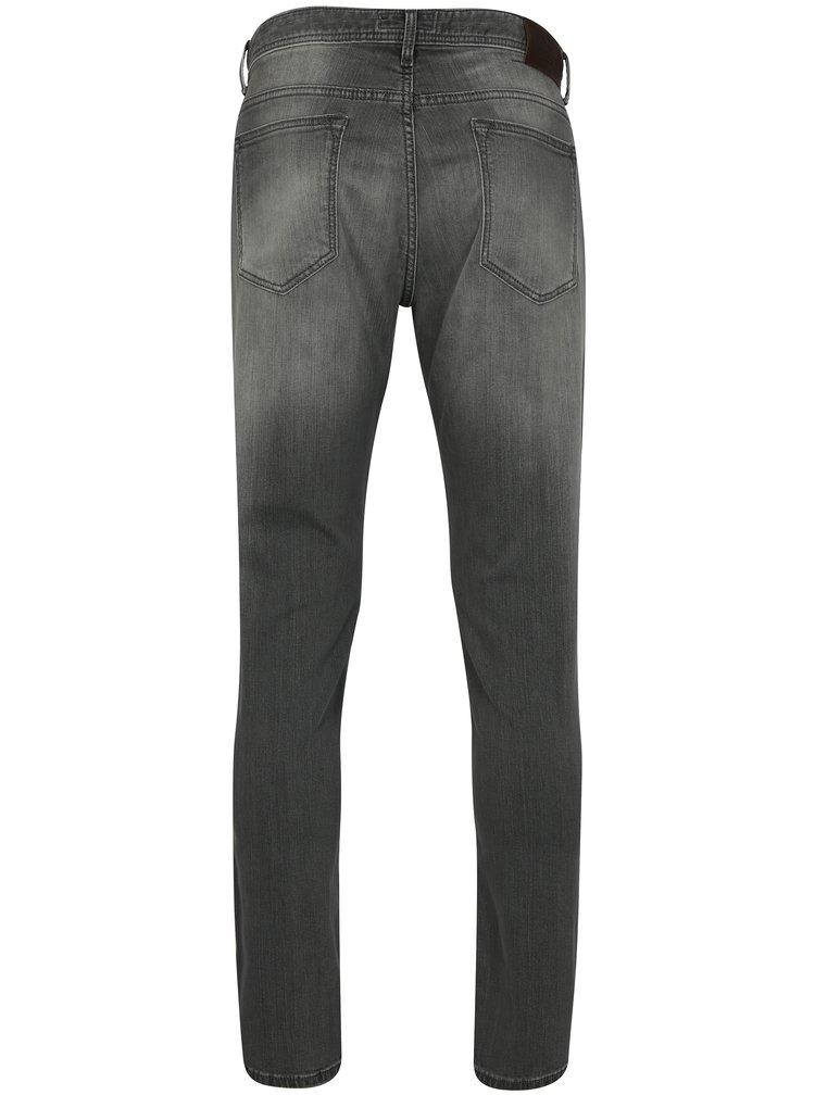 Šedé slim džíny s vyšisovaným efektem Hackett London
